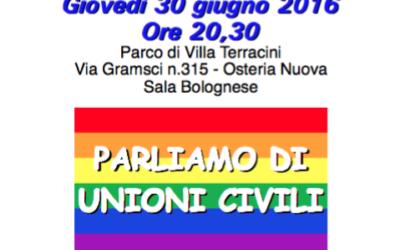 30.06.16 Festa Unità Sala Bolognese, incontro sulle unioni civili