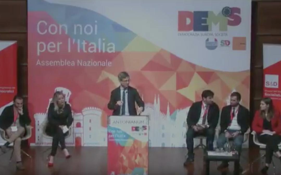 Con noi per l'Italia, il mio intervento all'Assemblea Nazionale DEMS