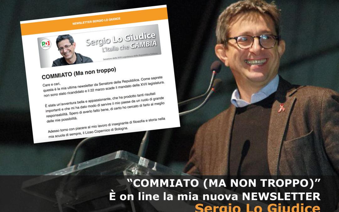 Newsletter Sergio Lo Giudice. Commiato ma non troppo